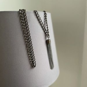 Banana Republic Metal Tassel Necklace
